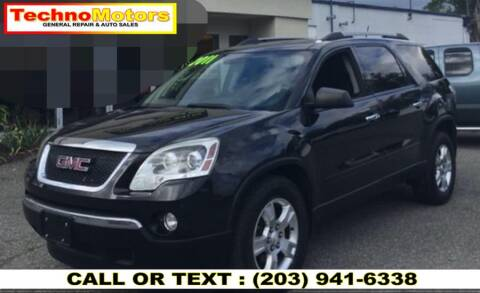 2011 GMC Acadia for sale at Techno Motors in Danbury CT