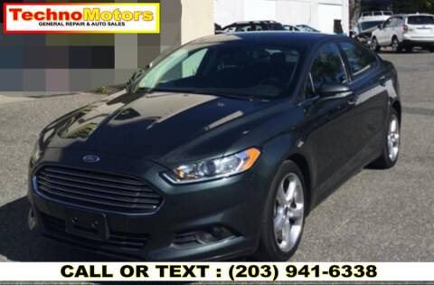2016 Ford Fusion for sale at Techno Motors in Danbury CT