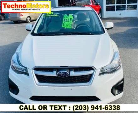 2012 Subaru Impreza for sale at Techno Motors in Danbury CT