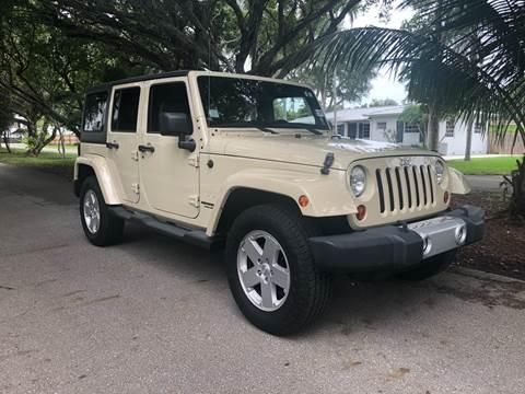 2011 Jeep Wrangler Unlimited for sale in Miami, FL
