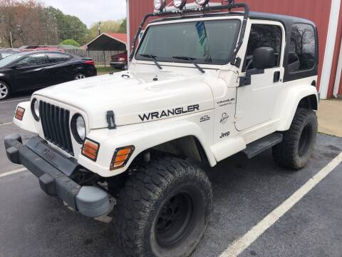 2002 Jeep Wrangler for sale at Sartins Auto Sales in Dyersburg TN