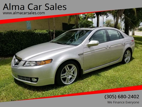 2007 Acura TL for sale at Alma Car Sales in Miami FL