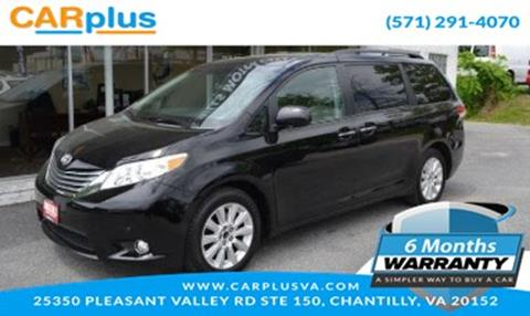 2011 Toyota Sienna for sale in Chantilly, VA