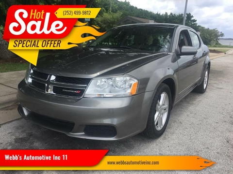 2012 Dodge Avenger for sale at Wally's Cars ,LLC. in Morehead City NC
