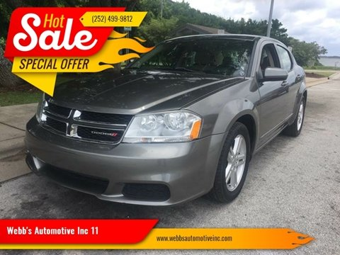 2012 Dodge Avenger for sale at Webb's Automotive Inc 11 in Morehead City NC