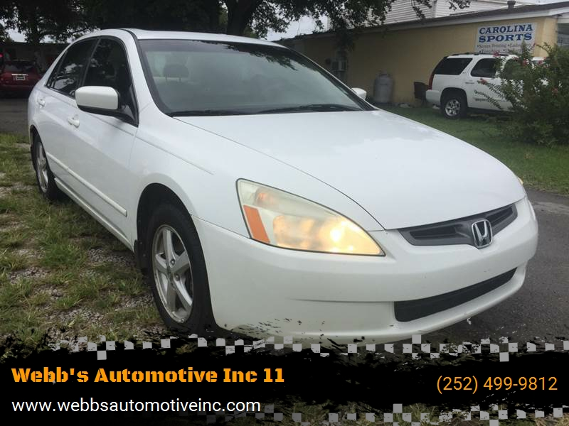 2005 Honda Accord for sale at Webb's Automotive Inc 11 in Morehead City NC