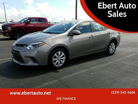 2015 Toyota Corolla for sale at Ebert Auto Sales in Valdosta GA
