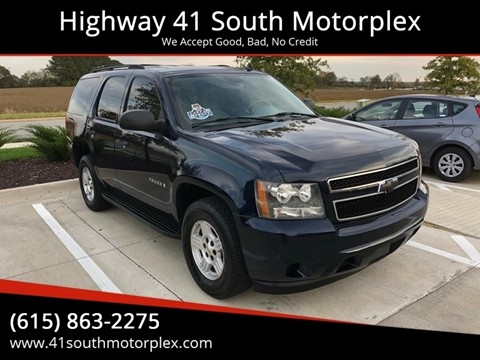 2007 Chevrolet Tahoe for sale at Highway 41 South Motorplex in Springfield TN