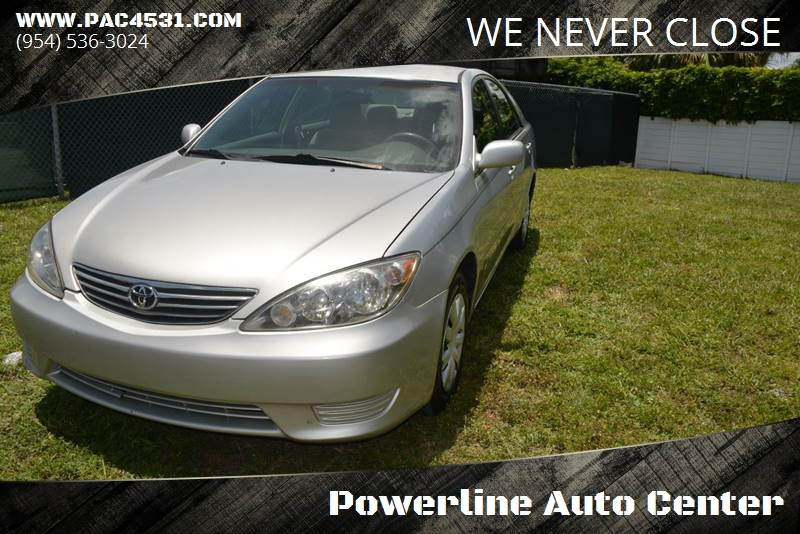 2005 Toyota Camry for sale at POWERLINE AUTO CENTER in Fort Lauderdale FL