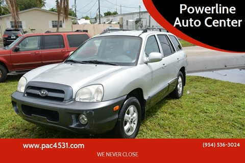 2005 Hyundai Santa Fe for sale at POWERLINE AUTO CENTER in Fort Lauderdale FL