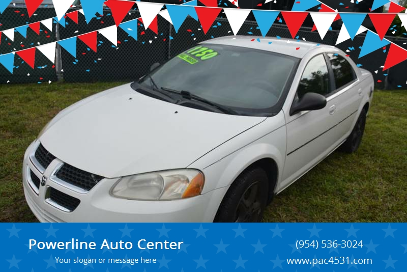 2005 Dodge Stratus for sale at POWERLINE AUTO CENTER in Fort Lauderdale FL