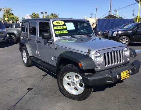 2016 Jeep Wrangler Unlimited for sale in South Gate, CA