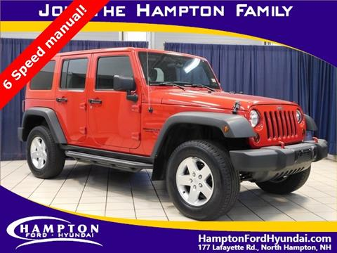 2012 Jeep Wrangler Unlimited for sale in North Hampton, NH