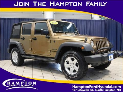 2015 Jeep Wrangler Unlimited for sale in North Hampton, NH