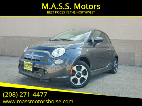 2016 FIAT 500e for sale at M.A.S.S. Motors in Boise ID