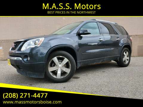 Gmc Acadia For Sale In Boise Id M A S S Motors