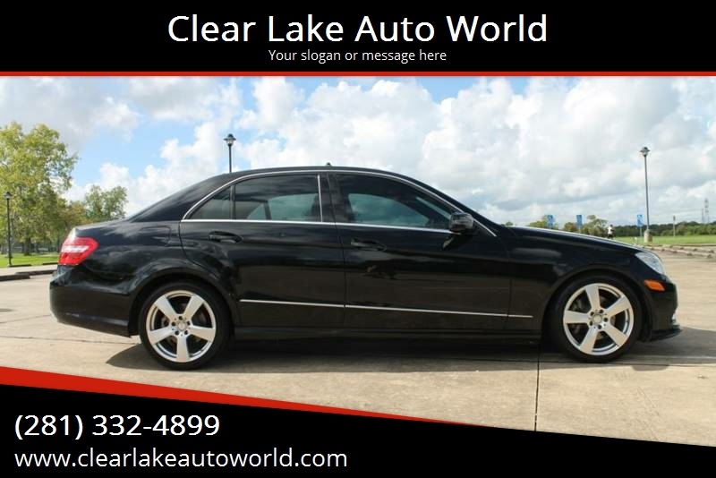 2011 Mercedes Benz E Class For Sale At Clear Lake Auto World In League