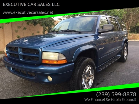 2002 Dodge Durango for sale at EXECUTIVE CAR SALES LLC in North Fort Myers FL