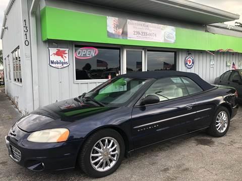 2001 Chrysler Sebring for sale at EXECUTIVE CAR SALES LLC in North Fort Myers FL