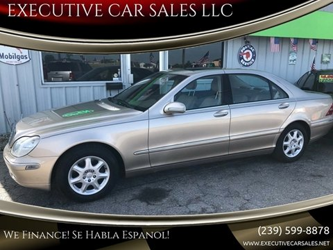 2000 Mercedes-Benz S-Class for sale at EXECUTIVE CAR SALES LLC in North Fort Myers FL