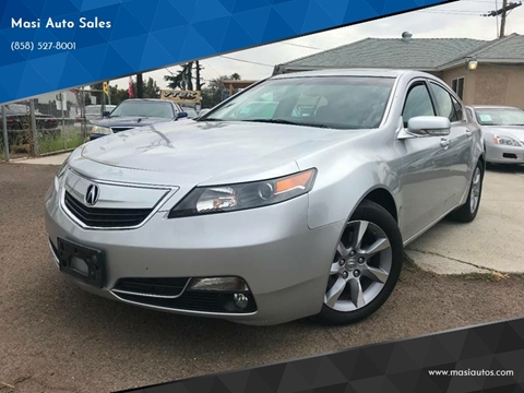 2012 Acura TL for sale at Masi Auto Sales in San Diego CA