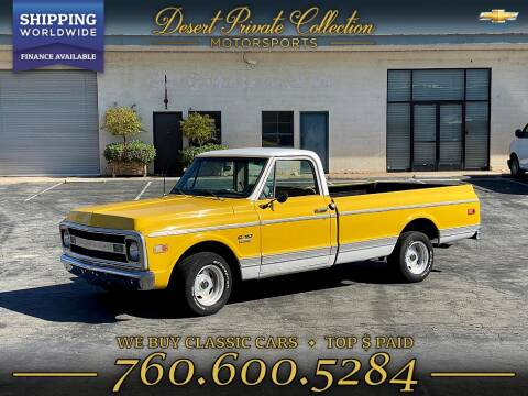 1970 Chevrolet c10 truck big block 396 for sale at PALM DESERT AUTO in Palm Desert CA