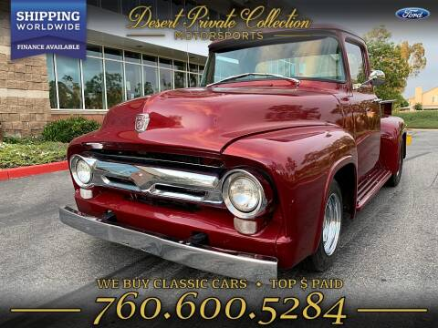 1956 Ford F100 Pickup Step Side Restomod for sale at PALM DESERT AUTO in Palm Desert CA