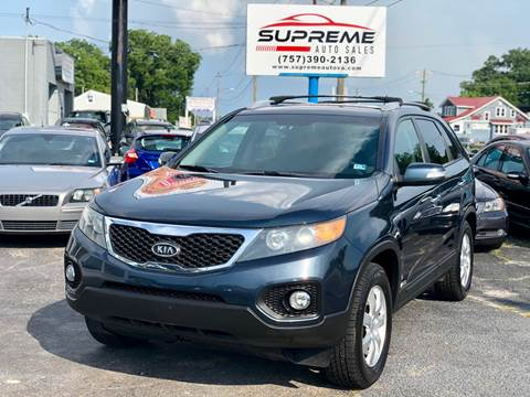 2012 Kia Sorento for sale at Supreme Auto Sales in Chesapeake VA