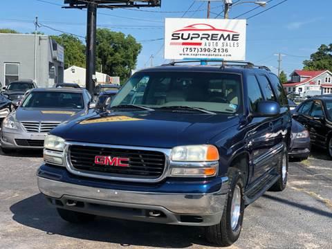 2002 GMC Yukon for sale at Supreme Auto Sales in Chesapeake VA