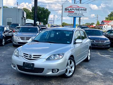 2004 Mazda MAZDA3 for sale at Supreme Auto Sales in Chesapeake VA