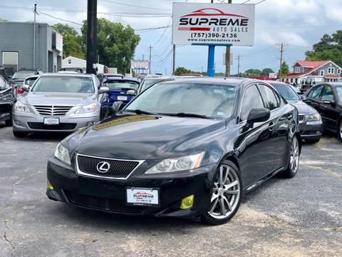 2008 Lexus IS 350 for sale at Supreme Auto Sales in Chesapeake VA
