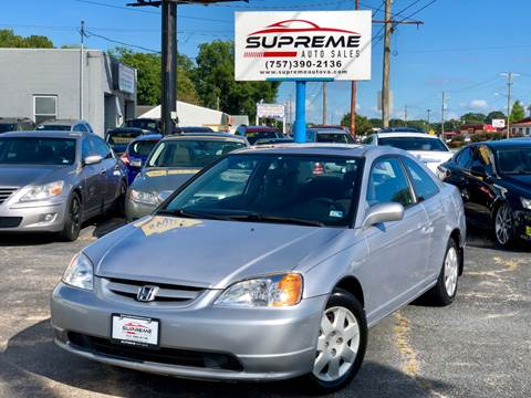 2002 Honda Civic for sale in Chesapeake, VA