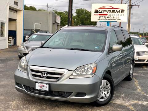 2007 Honda Odyssey for sale at Supreme Auto Sales in Chesapeake VA