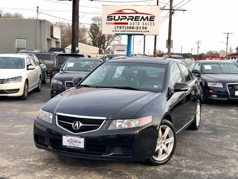 2004 Acura TSX for sale at Supreme Auto Sales in Chesapeake VA