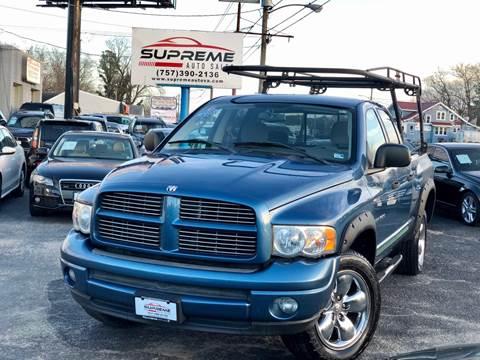 2004 Dodge Ram Pickup 1500 for sale at Supreme Auto Sales in Chesapeake VA