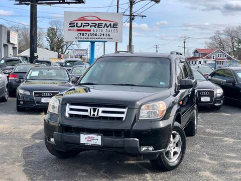2007 Honda Pilot for sale at Supreme Auto Sales in Chesapeake VA