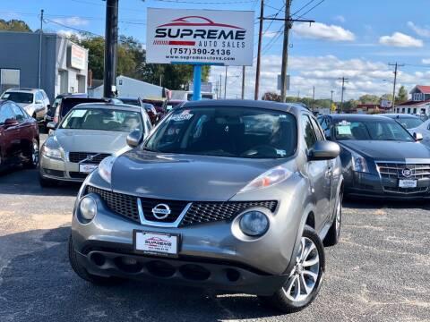 2013 Nissan JUKE for sale at Supreme Auto Sales in Chesapeake VA