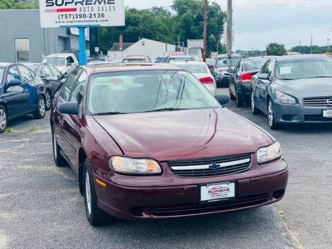2001 Chevrolet Malibu for sale at Supreme Auto Sales in Chesapeake VA