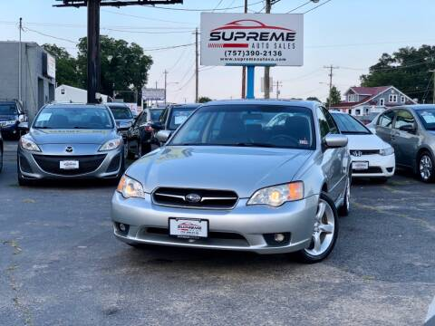 2007 Subaru Legacy for sale at Supreme Auto Sales in Chesapeake VA