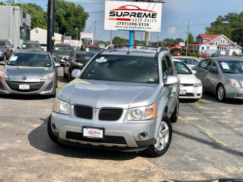2006 Pontiac Torrent for sale at Supreme Auto Sales in Chesapeake VA