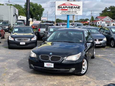 2008 BMW 5 Series for sale at Supreme Auto Sales in Chesapeake VA