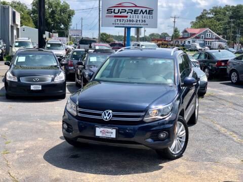2012 Volkswagen Tiguan for sale at Supreme Auto Sales in Chesapeake VA