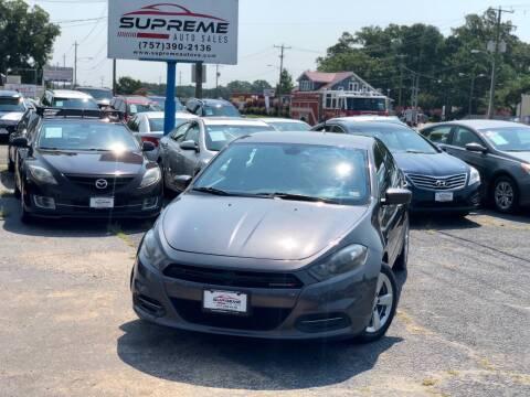 2015 Dodge Dart for sale at Supreme Auto Sales in Chesapeake VA