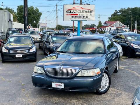 2005 Lincoln Town Car for sale at Supreme Auto Sales in Chesapeake VA