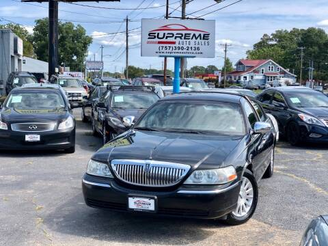 2004 Lincoln Town Car for sale at Supreme Auto Sales in Chesapeake VA