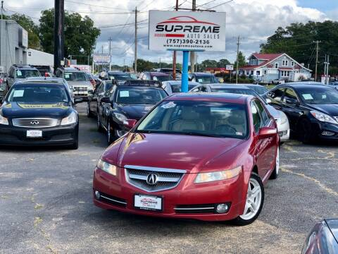 2008 Acura TL for sale at Supreme Auto Sales in Chesapeake VA