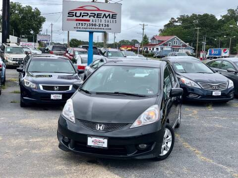 2009 Honda Fit for sale at Supreme Auto Sales in Chesapeake VA