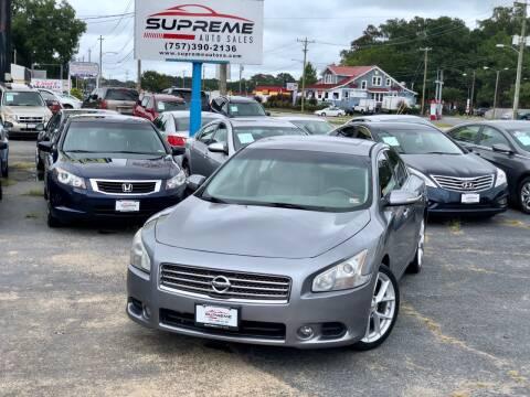 2009 Nissan Maxima for sale at Supreme Auto Sales in Chesapeake VA