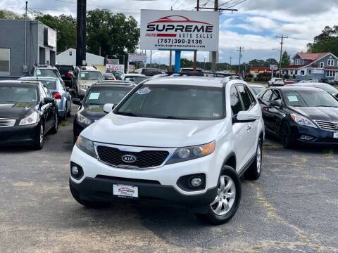 2011 Kia Sorento for sale at Supreme Auto Sales in Chesapeake VA