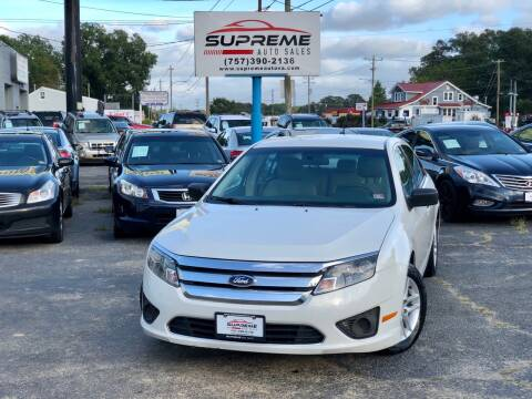 2011 Ford Fusion for sale at Supreme Auto Sales in Chesapeake VA